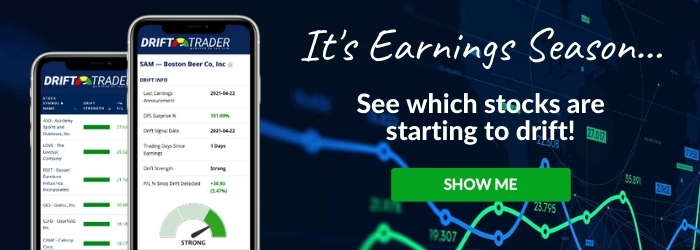 It's Earnings Season - See Which Stocks are Starting to Drift